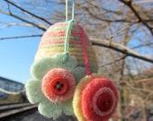 Felted Wool Easter Egg Ornament
