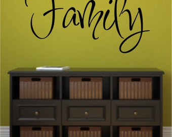 Vinyl Wall Art - Quote - Family - Vinyl Lettering - Decal - VWF502