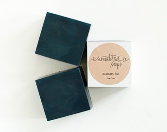 Charcoal & Tea Tree Square Soap - Natural, Handmade, Cold Processed, Vegan