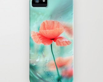 Phone Case  iPhone Samsung Galaxy Fantasy Garden - Poppy Dream  - abstract photography - poppy - flower - floral - light - pastel - abstract