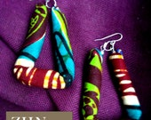 Zamunda Ankara wax Earrings