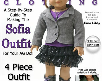 Pixie Faire Liberty Jane Sofia Outfit Bundle Doll Clothes Pattern for 18 inch American Girl Dolls - PDF