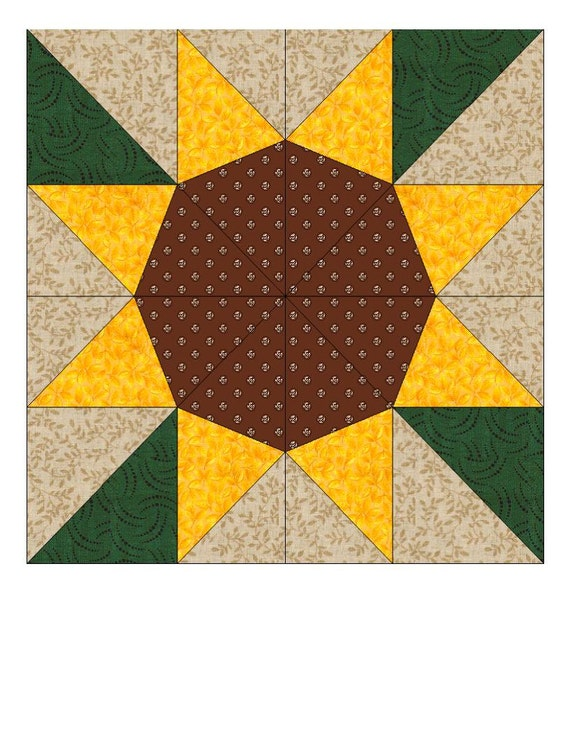 Sunflower Quilt Pattern Free Sunflower Paper Pieced Quilt