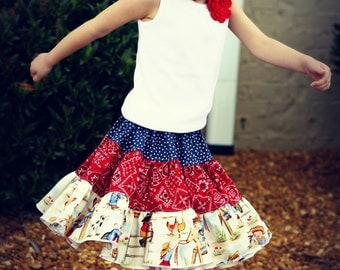 Ava twirl skirt - pdf tutorial - ebook - 12m - 12y