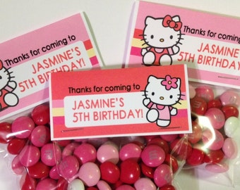 Kitty Candy Bag Labels