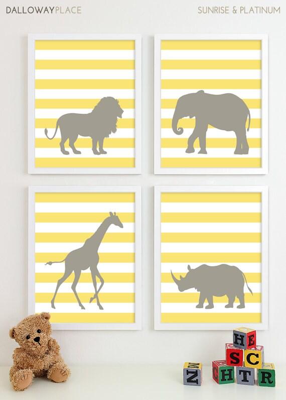 Items Similar To Modern Nursery Art Jungle Zoo Nursery