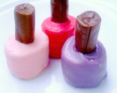 Marshmallow Chocolate Nail Polish Bottles Glam Diva 20 pairs party favors