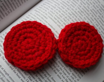 Lobe Warmers - Red Custom Lobe Warmers (Plug Mittens) for Stretched Ears.