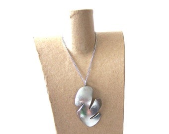 Ecofriendly Stainless Steel Necklace wih Pendant from Upcycled Metal