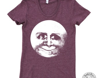 Women's SMILING MOON American Apparel Poly-Cotton Tee