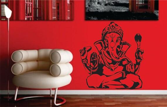 GANESHA ELEPHANT Buddha India decal sticker wall Hindu Buddhist