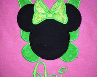 Disney  Minnie with Tinkerbell Wings - Personalized - Youth
