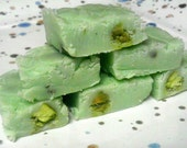Nutty Pistachio Fudge One Quarter Pound (1/4 lb) 4 oz Yummy Creamy and Crunchy Gourmet Fudge - NomNomNomFudge
