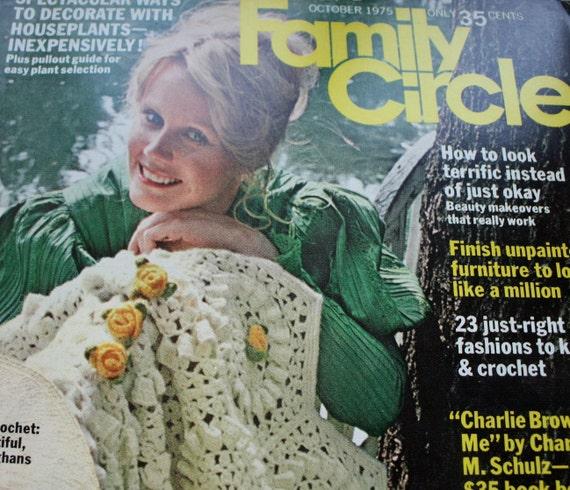 Vintage Family Circle October 1975 1970s Women S Magazine