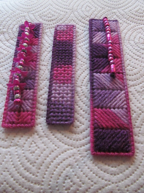 Purple Fusion Bookmarks set of 3
