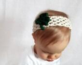 St. Patrick's Shamrock Baby Headband
