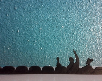 Wooden Mystery Science Theater 3000 Silhouette and Rifftrax Enhancer