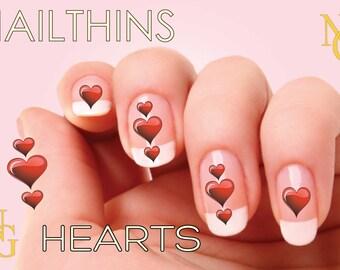 22  HEARTS Nail Art nail decal  NAILTHINS Nail  Design