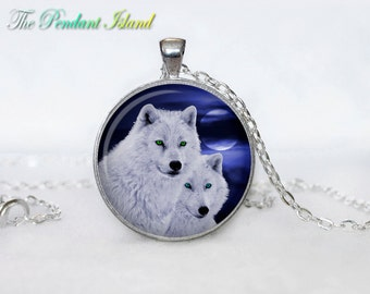 WOLF Pendant wolf necklace wolf couple wolf jewelry Loyalty necklace Loyalty pendant wolves jewelry for men (P2004)