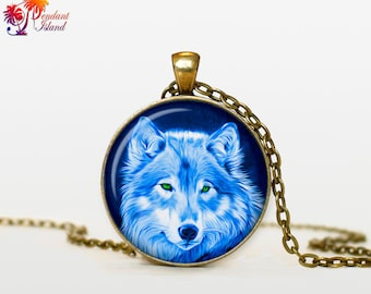 WOLF Pendant wolf necklace wolf jewelry Loyalty necklace Loyalty pendant wolves jewelry (P2001)