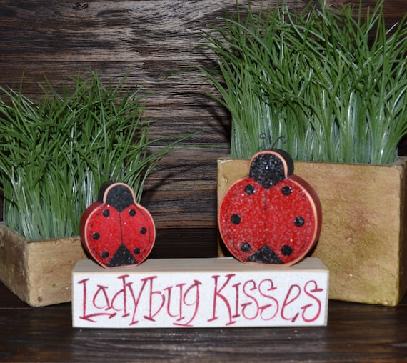 Ladybug Accent Pieces Personalized Wood Blocks by BlocksOfLove1