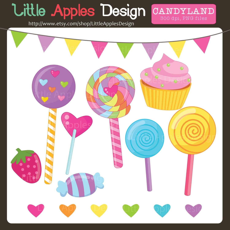 Lollipop Clip Art / Lollipop Clipart / Candyland Clipart /