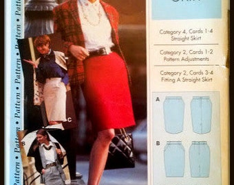 Pattern Pattern 012-052-101  Straight Skirt   Size   (4-12)