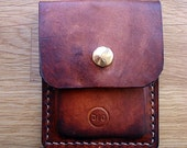 Leather Card or Coin and Cash Wallet Minimalist Case