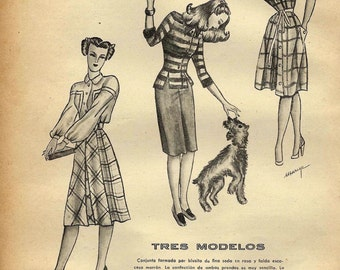 3 Vintage Fashion ads from Spain