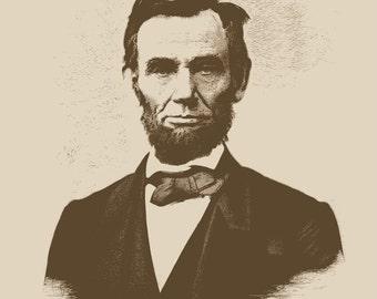 Abraham Lincoln Print 16x20 Fine Art Print