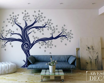 Large Tree wall decal - Tree wall decals - Office wall decal - Tree wall decal,  007