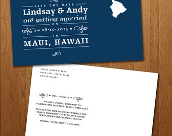 Popular Items For Hawaii Save The Date On Etsy