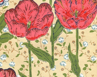 Vintage Wallpaper - Curious Bloomers - By the Yard