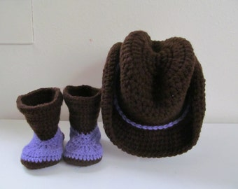 Hand Crocheted Baby Cowboy Boots - Made to Order