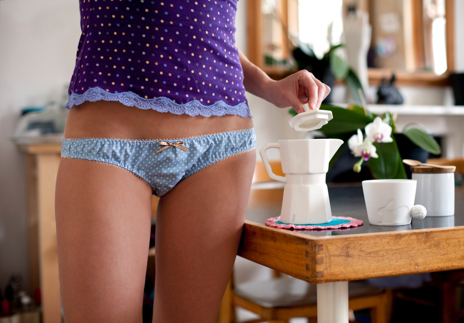 Lovely Polka Dots Cotton Panties By Voilalevelo On Etsy