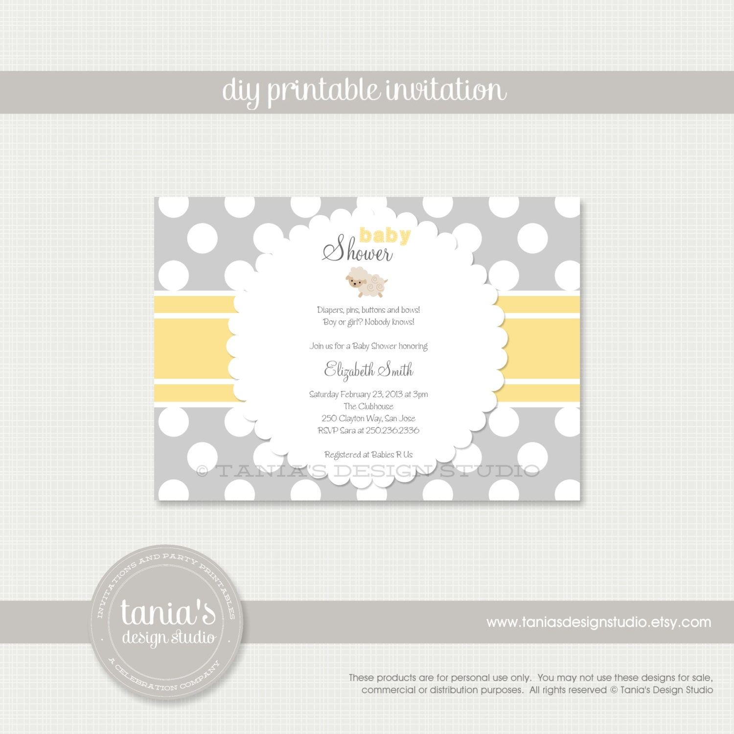 little lamb printable baby shower invitation by tania 39 s