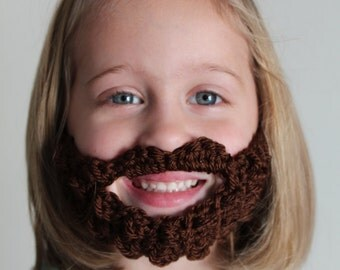 7 Colors!  Child's Beard Face Warmer made from Crocheted Yarn