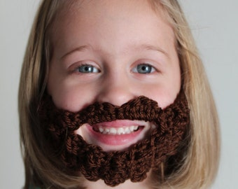Child's Beard Face Warmer made from Crocheted Yarn