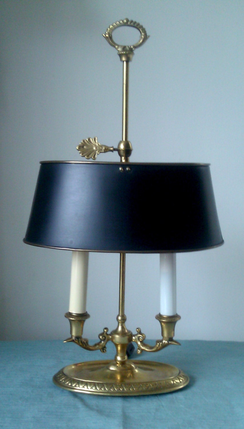 Vintage Brass Bouillotte Lamp By Frederick Cooper Free