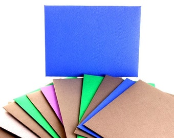 hand made envelopes sturdy upcycled book pages, cardstock set of 12
