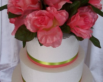 Coral Rose Cake Topper