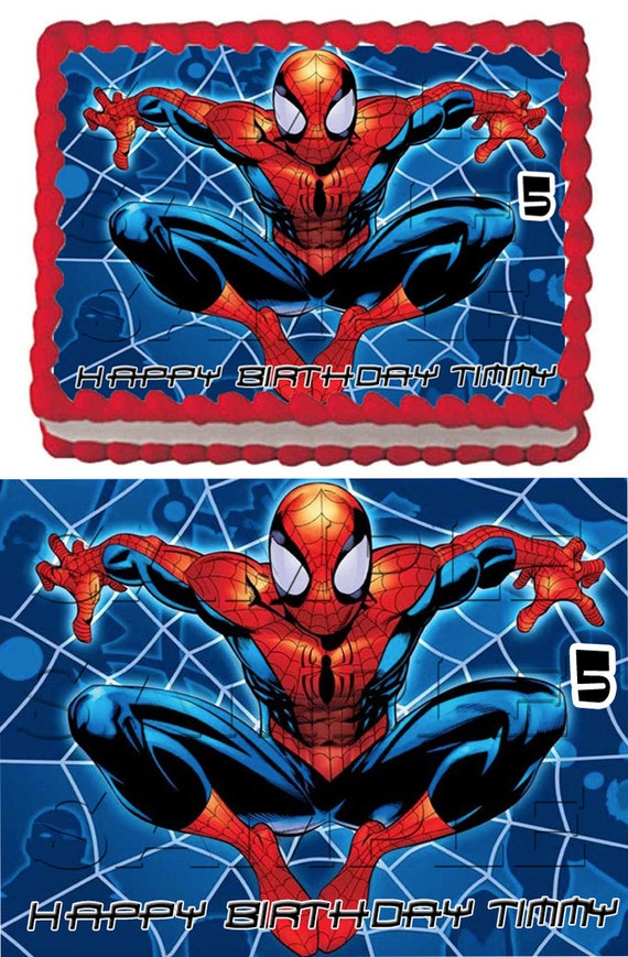 5 spiderman edible cake toppers - Image spiderman ...