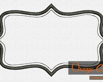 Vintage Frame Embroidery Design Instant Download