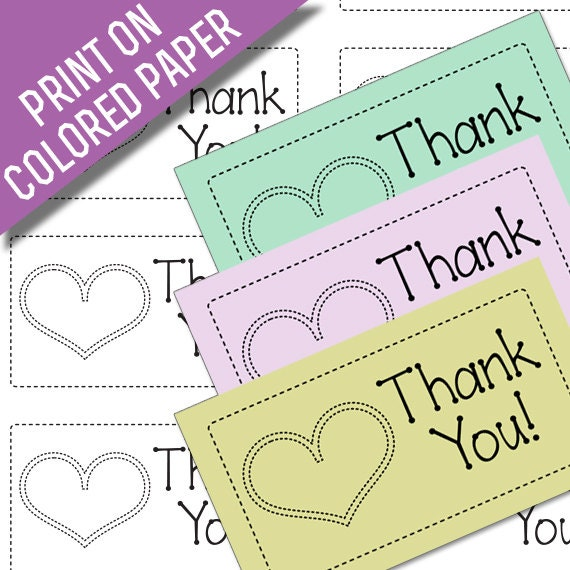 Line Art Thank You : Made with love thank you card printables black line art to