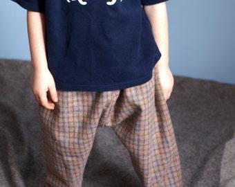 Kids Boys Handmade Wool Trousers  Age 3-5 Years