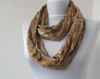 CLEARANCE SALE Colorful Jersey Scarf - Infinity Scarf - Loop Scarf - Circle Scarf - Scarf Necklace - 348