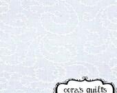 Moda Fabrics Muslin Mates - 1 Yard Cut in Swirling Vines, White - 9933 11