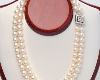 9mm Double Strand Necklace