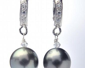10-11mm Tahitian Pearl Earrings