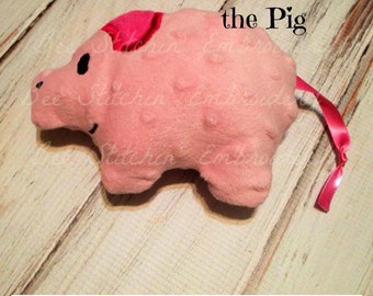 Precious Pig ITH stuffed Embroidery Design INSTANT DOWNLOAD
